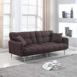 Frederick Zipcode Design Modern Plush Tufted Convertible Sofa