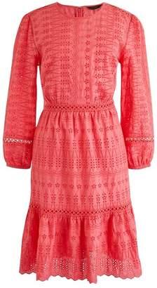 J.Crew J. Crew Long Sleeve Embroidered Dress (Regular & Petite)