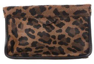 pradaPrada Leopard Printed Cavallino Clutch