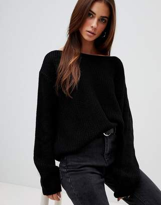 Missguided off shoulder sweater