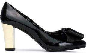Lanvin Bow-Embellished Patent-Leather Pumps