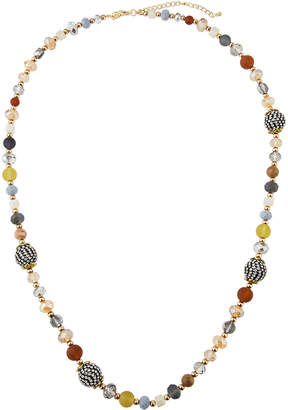 "Emily and Ashley Greenbeads By Natural-Hued Beaded Necklace, 32""L"