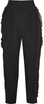 Alice McCall Under Control Ruffle-trimmed Crepe Tapered Pants - Black