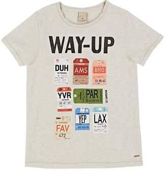 Scotch Shrunk Kids' Tag-Print Cotton Jersey T-Shirt