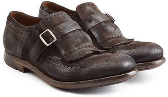 Church's Suede Monk Shoes