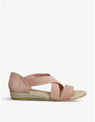 Office Hallie cross-over suede espradrille sandals