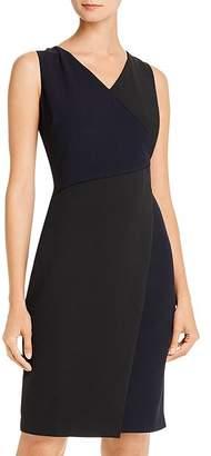 Donna Karan Color-Block-Front Sheath Dress