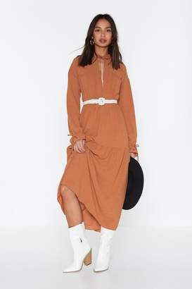 f52d50386f9572 Nasty Gal Long Sleeved Boho Maxi Dress