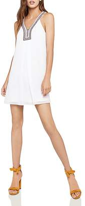 BCBGeneration Sleeveless Embroidered-Trim A-Line Dress