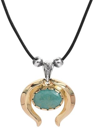 American West Sterling Brass Naja Green Turquoise Enhancer