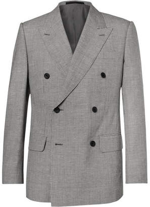 Kingsman Harry's Grey Puppytooth Wool And Linen-Blend Suit Jacket