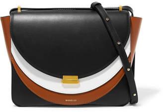 Wandler - Luna Color-block Leather Shoulder Bag - Black