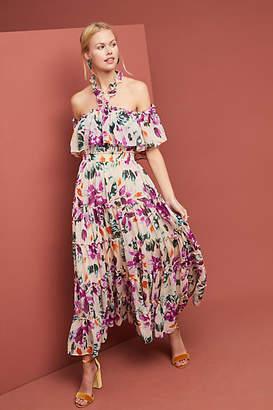 MISA Mila Ruffled Dress