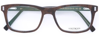 Gold And Wood 'Orion' glasses