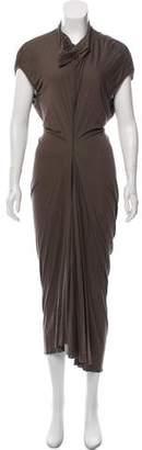 Rick Owens Asymmetrical Cap Sleeve Dress