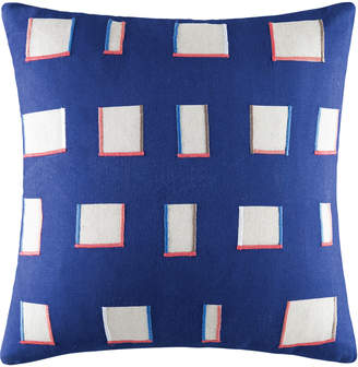 Kas Embroidered Jester Cotton-Blend Cushion