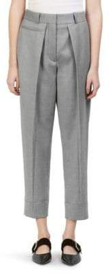 Cédric Charlier Pleat-Front Cropped Pants