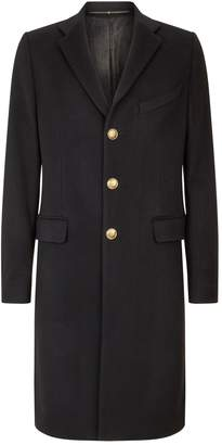 Givenchy Logo Button Overcoat