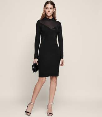 Reiss SEVEN EMBELLISHED BODYCON DRESS Black