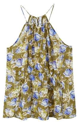 MANGO Printed halter neck blouse