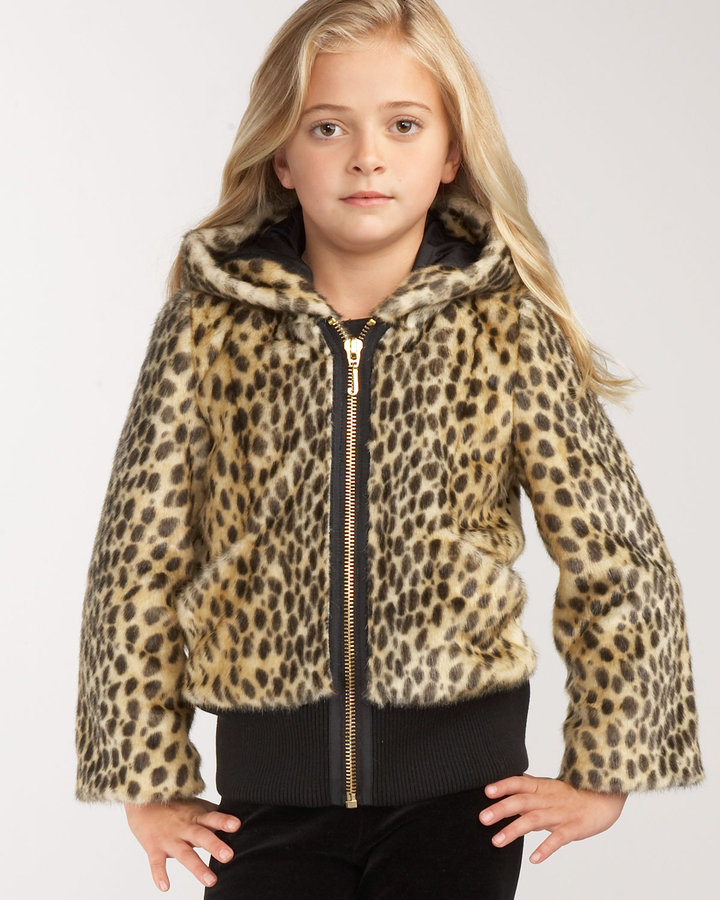 Juicy Couture Leopard Bomber, Sizes 7-14