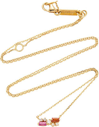 Suzanne Kalan 18K Yellow Gold Diamond And Sapphire Necklace