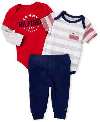 Tommy Hilfiger Newborn Boys) 3-Pack Bodysuit & Pants Set