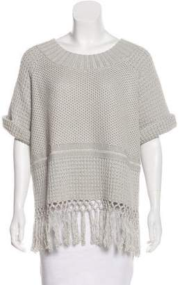 Current/Elliott Heavy Knit Fringe-Trimmed Sweater
