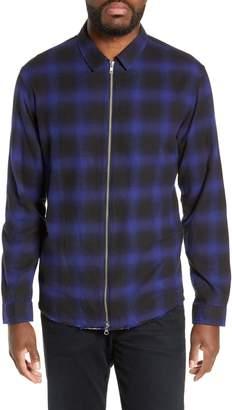 The Kooples Zip Flannel Jacket