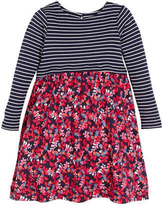 Joules Stripe & Floral Long-Sleeve Dress, Size 2-6