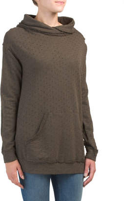 Made In Usa Crossed Cowl Neck Sweatshirt