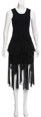 Chanel Cashmere-Blend Fringe-Trimmed Dress