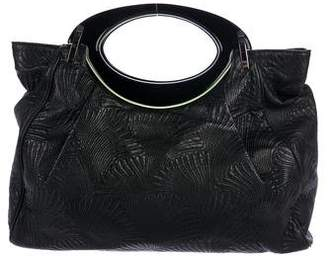 Marni Embroidered Leather Balloon Bag