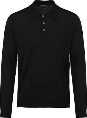 Prada Worsted wool polo shirt
