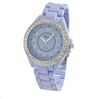 Geneva Platinum Womens Purple Bracelet Watch-2260