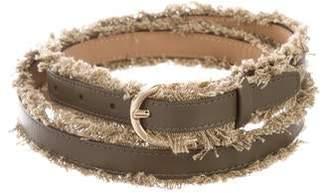 d21337e102071 Michael Kors Leather Fringe Belt