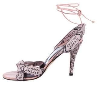 Versace Satin High-Heel Sandals