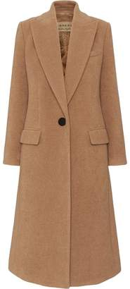 Burberry Oversized Lapel Camel Hair Tailored Coat