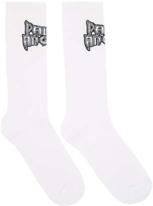Palm Angels White Metal Palm Socks