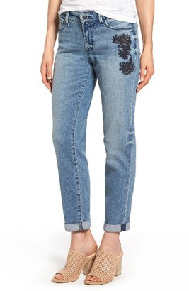 Women's Nydj Jessica Embroidered Boyfriend Jeans $148 thestylecure.com