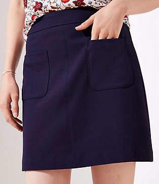 LOFT Tall Pocket Shift Skirt