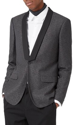 Men's Topman Skinny Fit Jacquard Tuxedo Jacket $300 thestylecure.com