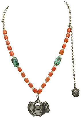 One Kings Lane Vintage 1960s Mexican Bead & Pendant Necklace - Thanks for the Memories