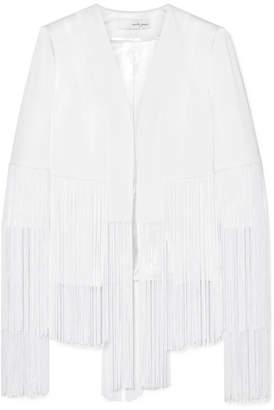 Galvan - Cortado Fringed Crepe Jacket - White