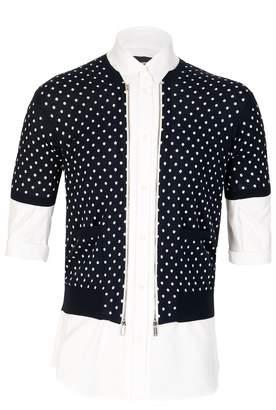 DSQUARED2 Dsquared Polka Cardigan & Poplin Shirt