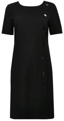 Wallis Black Asymmetric Stud Shift Dress