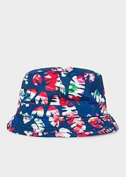 Paul Smith Men's Blue 'Palm Leaf' Bucket Hat