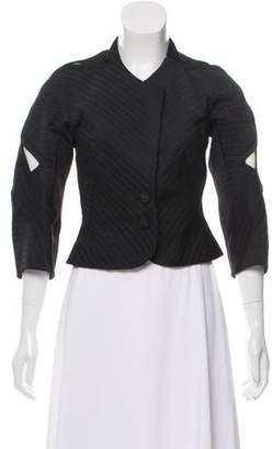 Zac Posen Textured Button-Up Jacket