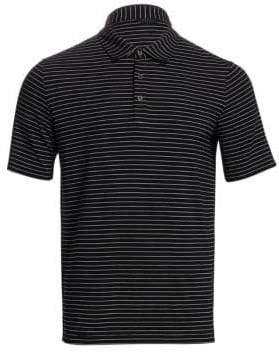 Saks Fifth Avenue COLLECTION Striped Cotton Polo Shirt