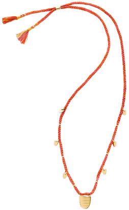 The Brave Collection Women's Woven Buddhist Flag Necklace